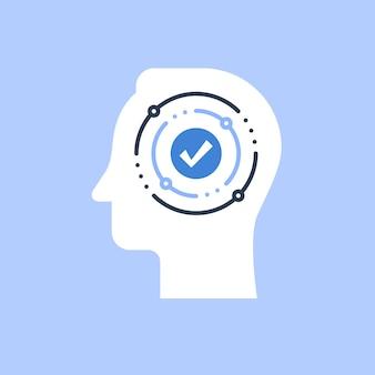 Entscheidungsfindung, meinungsumfrage, voreingenommenheit und denkweise, marketing-fokusgruppe