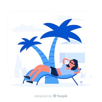 Entspannung konzept illustration