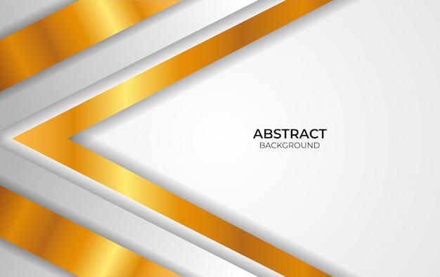 Entwerfen sie abstrakten weißen und goldenen stil