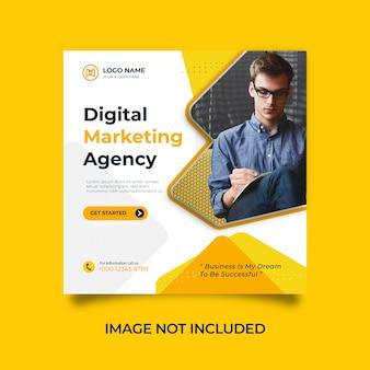 Entwerfen sie eine social media- und instagram-post-vorlage für eine agentur für digitales marketing