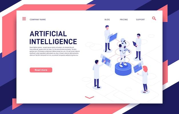 Entwicklung der künstlichen intelligenz. cyborg fertigung, robotik zukunft und bionischer roboter.