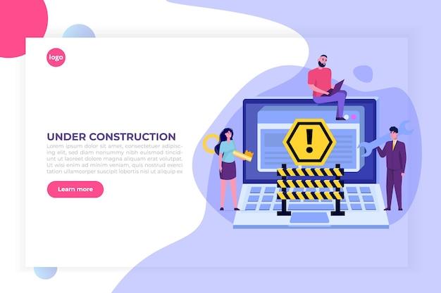 Entwicklung einer website, website im aufbau