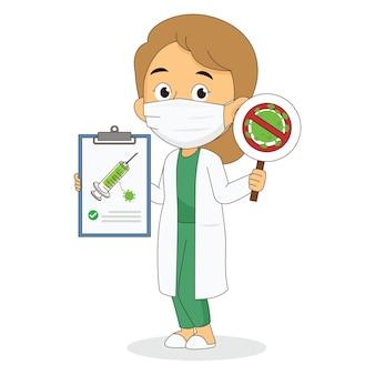 Entwicklung eines coronavirus-impfstoffs mit einem arzt