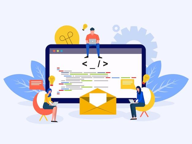 Entwicklung von software und programmierung