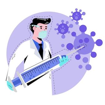 Entwicklungsdesign für coronavirus-impfstoffe