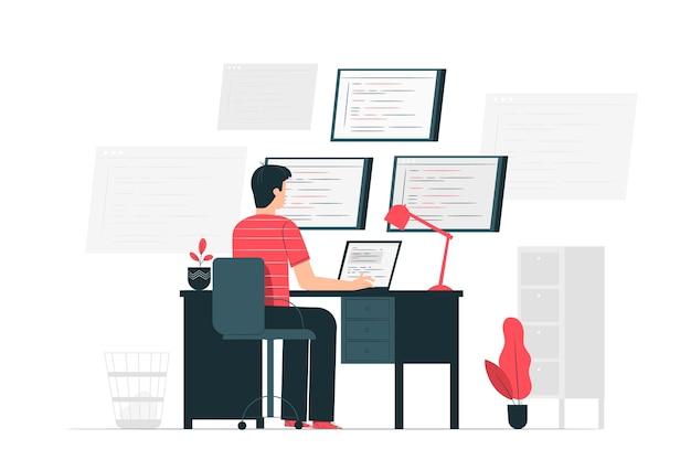 Entwicklungskonzept illustration