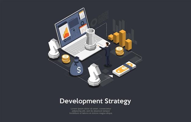 Entwicklungsstrategie konzeptkunst auf dunkelheit