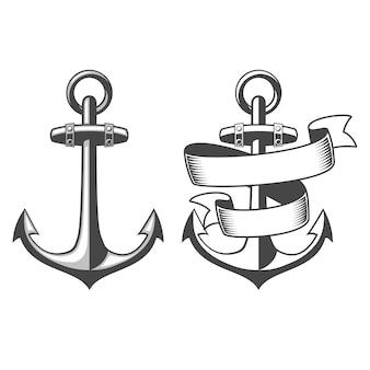 Entworfene nautische anker