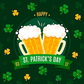 Entwürfe von bier und klee st. patrick's day