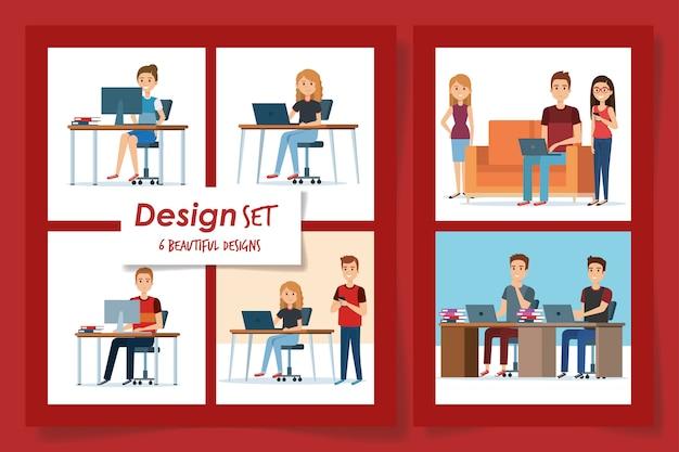 Entwürfe von jugendlichen am arbeitsplatz