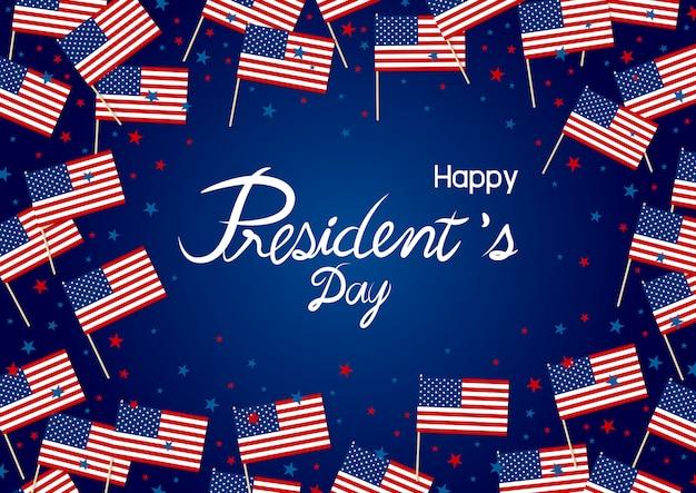 Entwurf des präsidenten tages von amerika-flagge