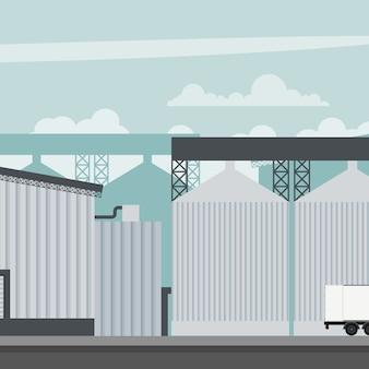 Entwurf einer mühlenfabrik eines industriellen lebensmittelunternehmens
