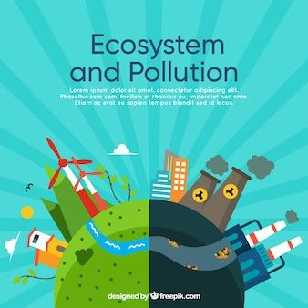Entwurf von ökosystemen und umweltverschmutzung