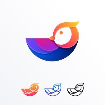 Entwurfs-vektorschablone der abstrakten eule farbenreiche abbildung