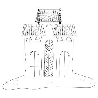 Entwurfshorrorschloß, der architekturart errichtet