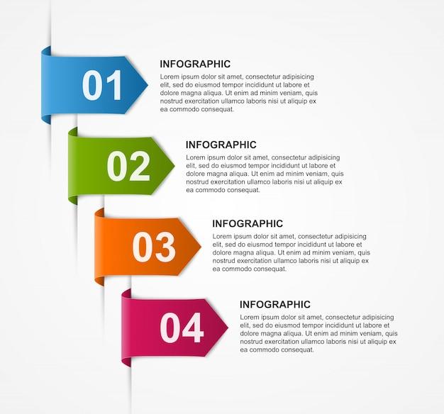 Entwurfsvorlage für abstrakte infografiken.