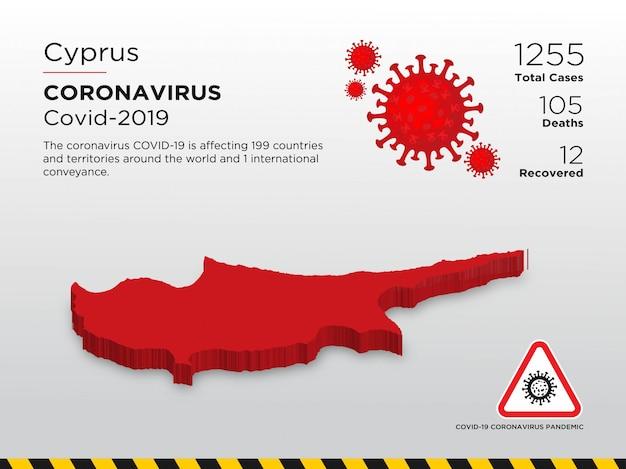 Entwurfsvorlage für betroffenes land der coronavirus-krankheit