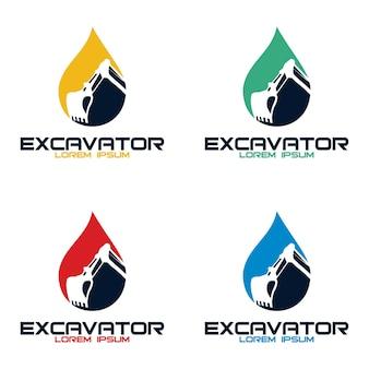 Entwurfsvorlage für das bagger-logo