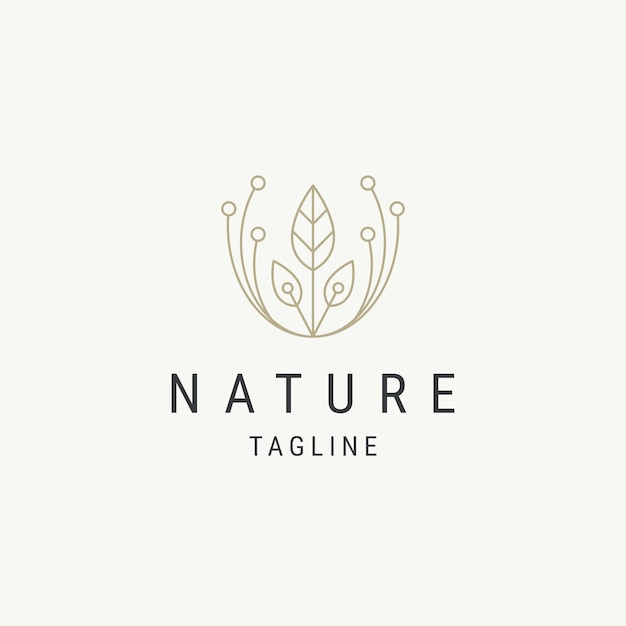 Entwurfsvorlage für das design des naturblatt-logos