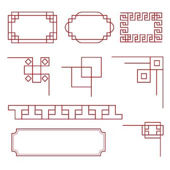 Entwurfsvorlage für die vektorillustration der grenze