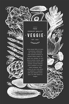 Entwurfsvorlage für grünes gemüse.