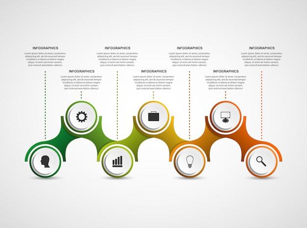 Entwurfsvorlage für infografiken mit abstrakten optionen.