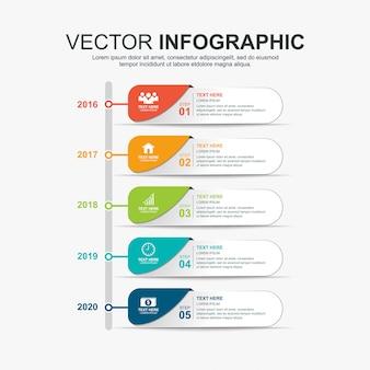 Entwurfsvorlage für infografiken-timeline-elemente