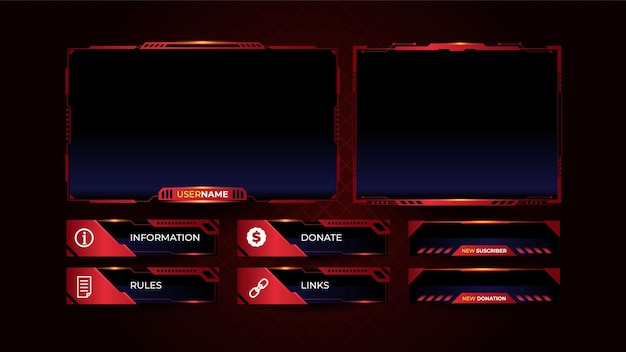 Entwurfsvorlage für streaming-panel-overlays