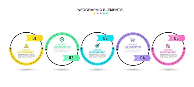 Entwurfsvorlage für zeitleisten-infografiken