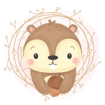 Entzückende eichhörnchenillustration