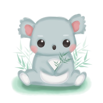 Entzückende koalaillustration für kinderzimmerdekoration