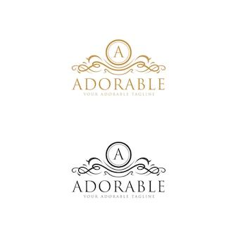 Entzückende logo-vorlage