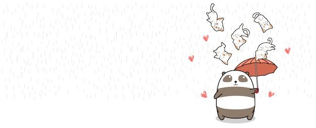 Entzückende pandaillustration