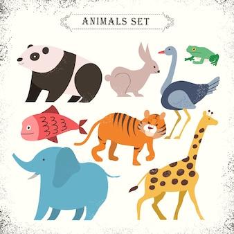 Entzückende tiere mit stil