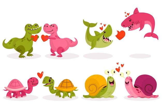 Entzückende valentinstagtierpaare