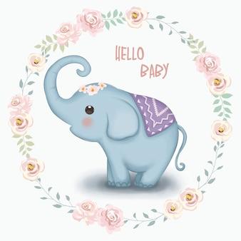 Entzückender babyelefant