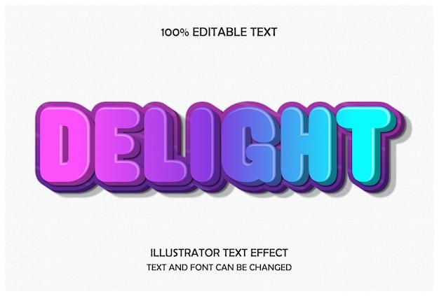 Entzückender, bearbeitbarer 3d-texteffekt im modernen prägestil