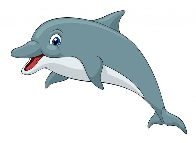 Entzückender delphin-cartoon
