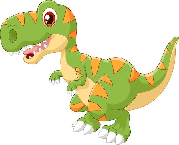 Entzückender dinosaurier der karikatur
