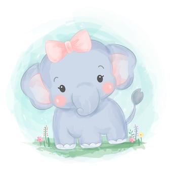 Entzückender elefantenbaby