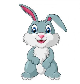 Entzückender kaninchen-cartoon