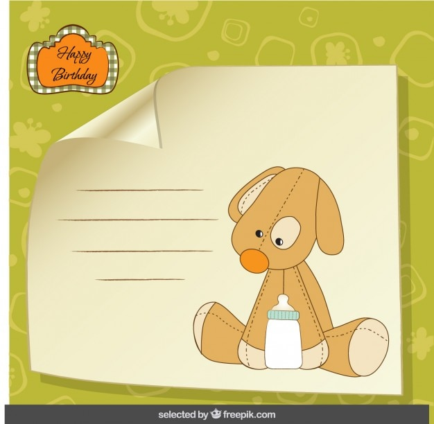 Entzückender teddybärhund-geburtstagskarte