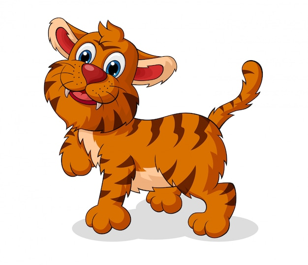 Entzückender tiger-cartoon
