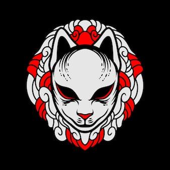 Epische kitsune-maske