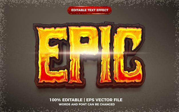 Epischer fetter bearbeitbarer texteffekt 3d-vorlagenstil