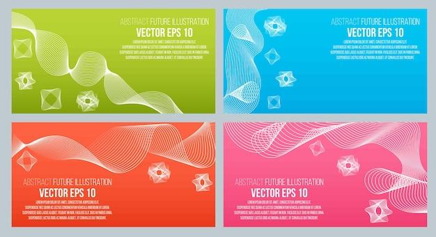 Eps-10-vektor-illustration. abstrakter hintergrund mit geometrischen gestaltungselementen. vektor-design-stil visitenkarte, briefkopf, broschüre, banner.