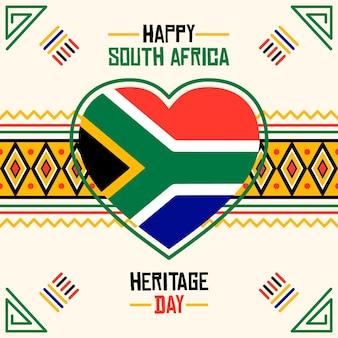 Erbe tag südafrika illustration