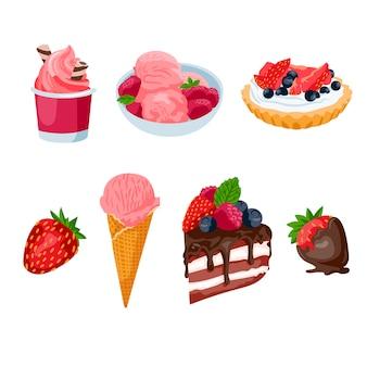 Erdbeer desserts