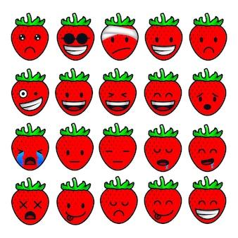 Erdbeer gefühle und emotionen
