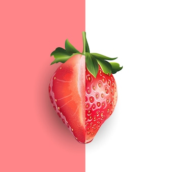 Erdbeer-illustration